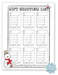 gift shopping list gift shopping list tried true