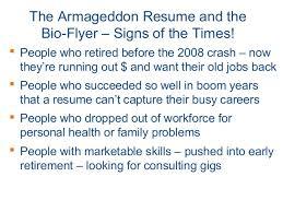 Donald Burns Resume Writer Armageddon Resume U0026 Bio Flyer