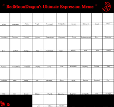Expressions Meme - rmd ultimate expression meme by redmoondragon on deviantart