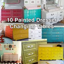 Mounted Changing Table by Bedroom Charming Changing Table Dresser For Nursery Furniture