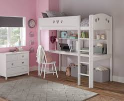 White High Sleeper Bed Frame Collection High Sleeper Bed Frame Desk Shelves White