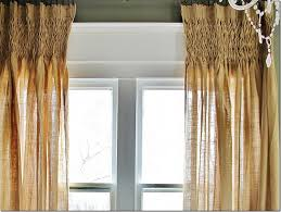 Smocked Burlap Curtains Get The Look Smocked Burlap Curtains Thistlewood Farm
