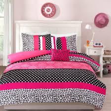 Pink And Black Polka Dot Bedding Beautiful 7 Pc Modern Chic Soft Brown Tan Taupe Stripe Comforter