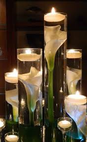 Vase Wedding Centerpiece Ideas by Perfect Submerged Calla Lily Water Scent Floating Candles Vase