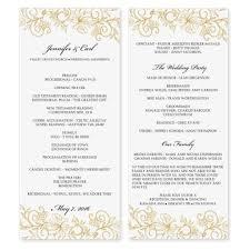 Making Wedding Programs Microsoft Word Program Template Invitation Template