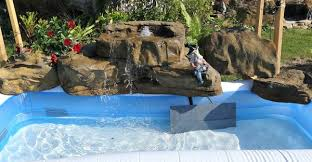 rock waterfalls for pools artificial rock waterfalls for above ground swimming pools