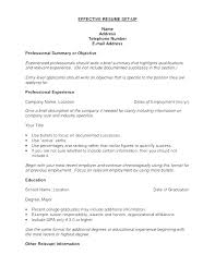 resume setup exles how to set up resume cliffordsphotography