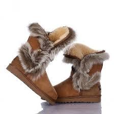 ugg australia s beige adirondack boots ugg boots fox fur and boots on