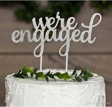 a and we re cake topper 2018 we re engaged cake topper for engagement bridal shower party