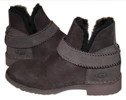 womens grey ankle boots australia ugg australia chocolate mckay suede sheepskin ankle 1012358