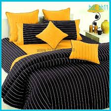 Black And Yellow Duvet Cover Home Textile Products Bed Duvet Covers