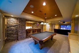 interior desigen game room billiard table bar design style games