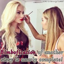 sissy hairstyles bimbofication of another sissy is nearly complete forced