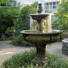 l with water fountain base free plan a garden of outdoor rooms fountain water features and