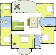 floorplan first second floor plan house home architecture stock