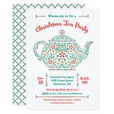 christmas tea party invitations u0026 announcements zazzle