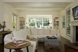 Shabby Chic Slipcovered Sofa White Slipcovered Sofa Living Room Scandinavian With Dark Gray