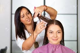 hair salon woman haircut cutting stock photo picture and