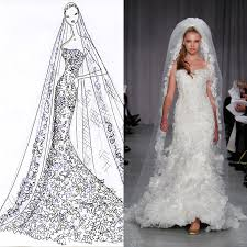 designer wedding dresses gowns designer wedding gowns from sketch to dress wedding dress