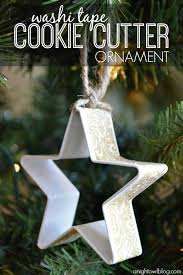 washi cookie cutter ornaments a owl