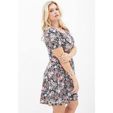 forever 21 plus sizes tropical floral skater dress polyvore