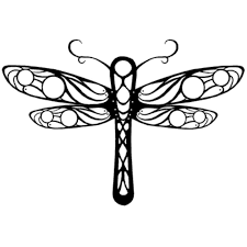 12 best dragonfly outline tattoo images on pinterest dragonfly