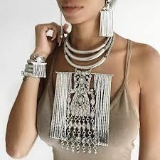 aliexpress vintage necklace images Big alloy tassels necklace vintage maxi necklaces statement jpg