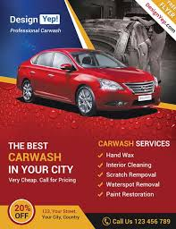 download car wash business free psd flyer template