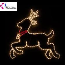 2d reindeer sleigh motif