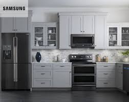 gray kitchen cabinets with black stainless steel appliances black stainless steel appliances best buy