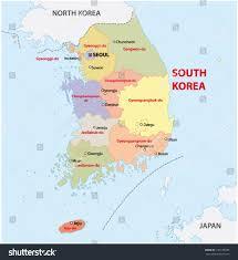 Sinai Peninsula On World Map by South Korea Administrative Map Stock Vector 151108949 Shutterstock