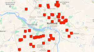 Map Of Richmond Virginia by Rva Murders Map 2016 Church Hill People U0027s News Richmond Virginia