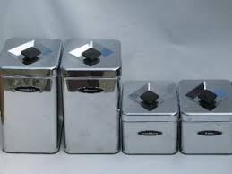 vintage kitchen canister retro kitchen canisters