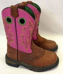 womens size 11 pink cowboy boots candie s retro chunky sole platform leather boots side zip brown