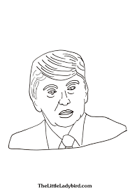 free president donald trump coloring page thelittleladybird com