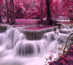 pink waterfall pictures photos and images for facebook