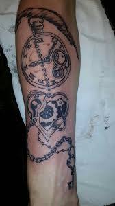 clock heart and beads done looks amazing spartan ink tattoos