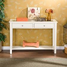 Foyer Table With Drawers Furniture Minimalist Looks Of White Console Table With Drawers To