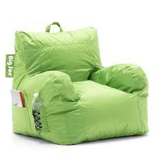 Big Joe Lumin Chair Sapphire amazon com big joe dorm bean bag chair spicy lime kitchen u0026 dining