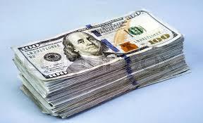 stack of hundred dollar bills stock photo colourbox