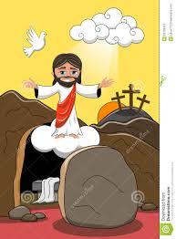 jesus christ resurrection tomb rising stock vector image 50799931
