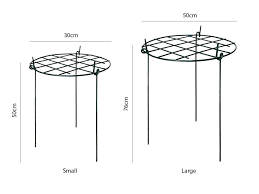small plant supports grow through plant supports round u2013 home u0026 garden extras