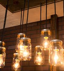 Cabin Light Fixtures by Mason Jar Reclaimed Wood Chandelier 10 Pendants Features Cabin
