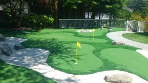 backyard golf course ideas home outdoor decoration