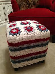 Crochet Armchair Covers Furniture Nice Ottoman Slipcover Designs Ever U2014 Fujisushi Org