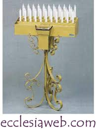 candelieri votivi candeliere votivo 32 candele elettronico automatico artistico
