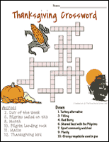 thanksgiving crosswords http seasonal theteacherscorner net