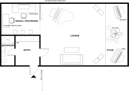 Lounge Floor Plan Drawing Sliding Doors On Floor Plan Home Decorating Interior