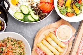 libanais cuisine divers plats libanais cuisine méditerranéenne image stock image du