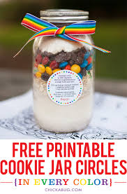 free printable cookie jar recipe circles in every color chickabug